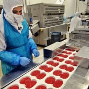 Food Industry - factory production line at work