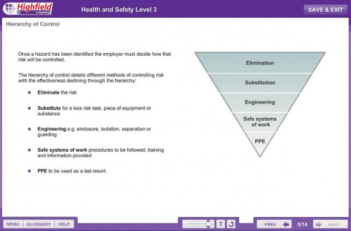 Health and Safety Level 3